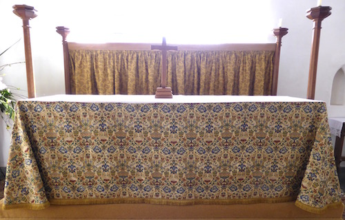 New altar frontal in St. Mary's, Holme-next-the-Sea - Photo Tony Foster