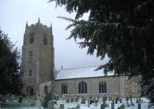 St. Mary's, Holme-next-the-Sea - Winter scene - Photo &copy Tony Foster