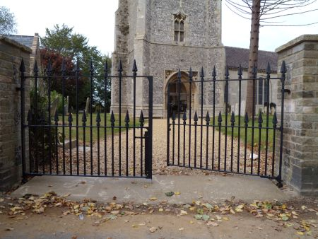 The new main gates to St. Mary's, Holme-next-the-Sea - Photo Tony Foster
