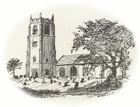 St. Mary's, Holme-next-the-Sea - drawing by Helen Riviere