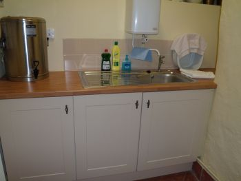 The new kitchen at St. Mary's, Holme-next-the-Sea - Photo Tony Foster